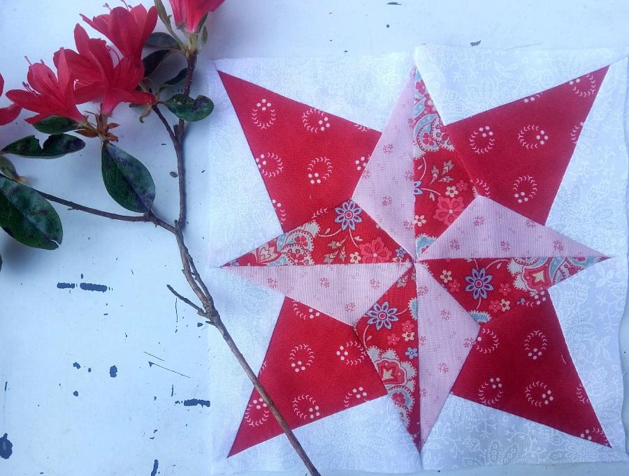 Bloc Rouge du challenge France Patchwork #ensemblemalgretoutApprendre la patchwork est un loisirs très enrichissant