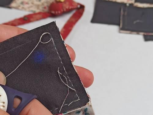 noeud léger pour terminer la couture d'un bloc de patchwork