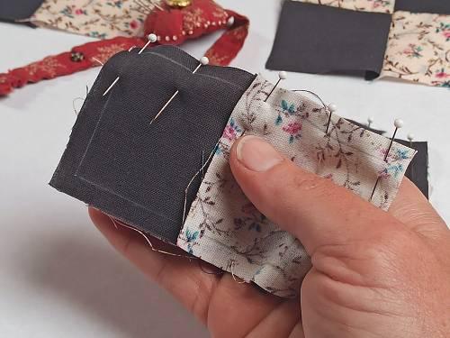 épingler pièces de patchwork