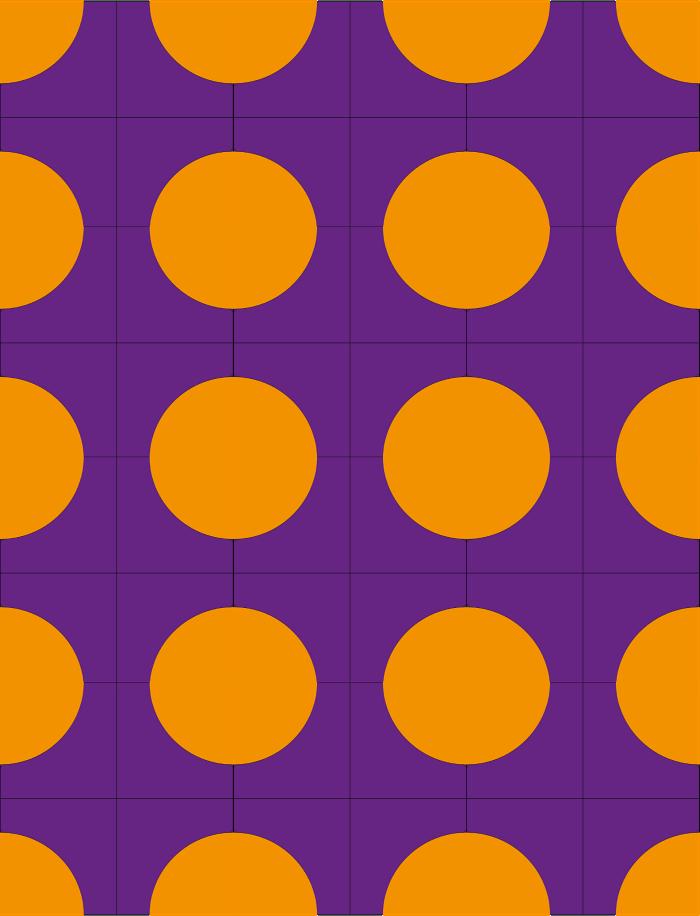 Quilt avec blocs arrondis