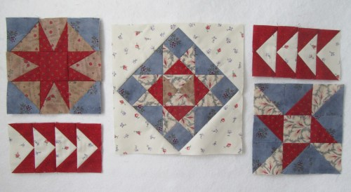 Wall hanging blocks by Allison Reid