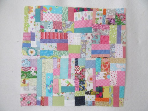 Super sized scrap block by Allison Reid