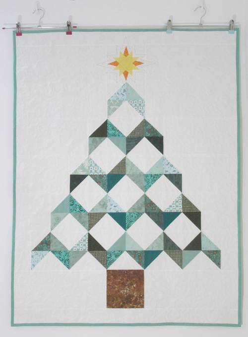 Christmas Tree Chevron Quilt by Allison Reid