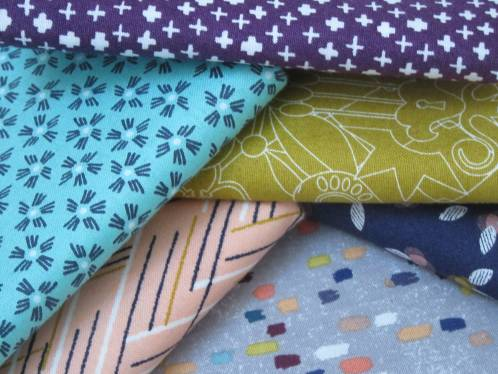 Beginners Quilt 2019 fabrics by Allison Reid