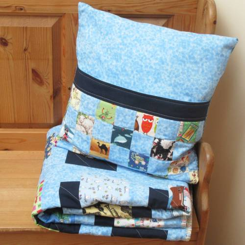I-Spy Quilt and Book Pillow Set by Allison Reid