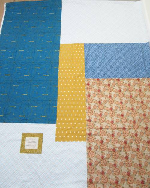 Backing for Scrappy Trip Along Quilt by Allison Reid
