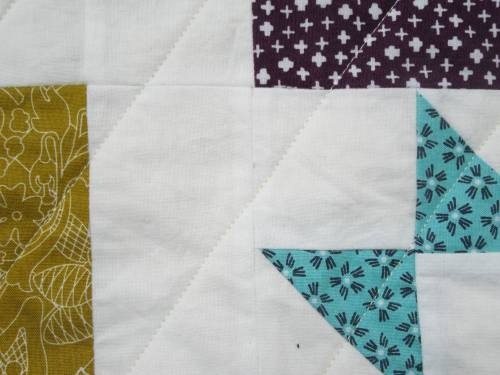 Dashing Stars stitching on feature fabrics by Allison Reid