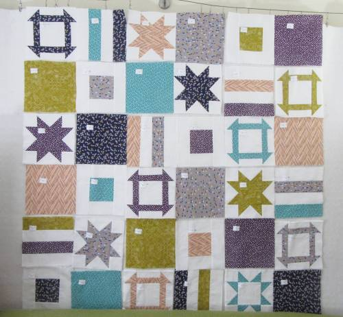 Dashing Stars labeled blocks on design wall by Allison Reid
