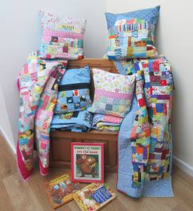 Quilt and Book Pillow Sets x4 (2) by Allison Reid