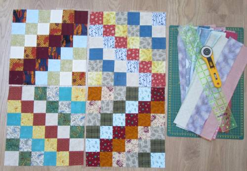 Scrappy Trip Along blocks and tube sets by Allison Reid