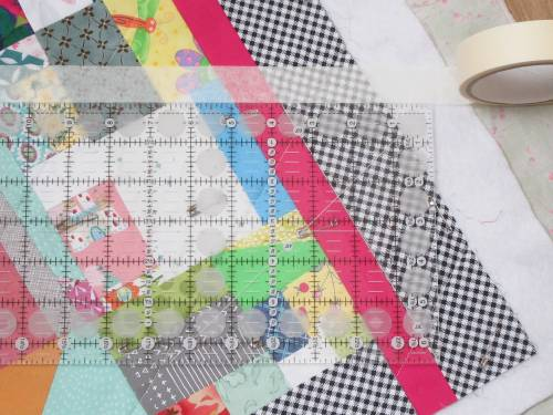 Diamond Chips marking quilting lines by Allison Reid