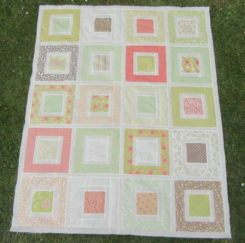 Square in a Square with sashing borders (2) by Allison Reid