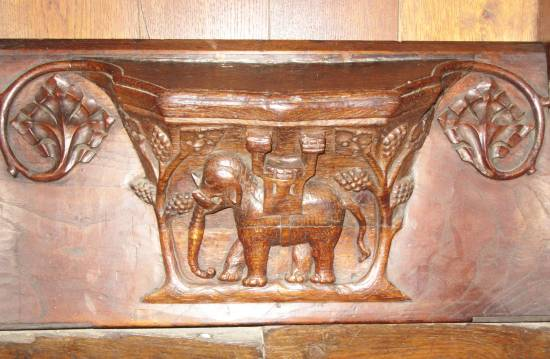 Beverley St Mary's carved elephant by Allison Reid