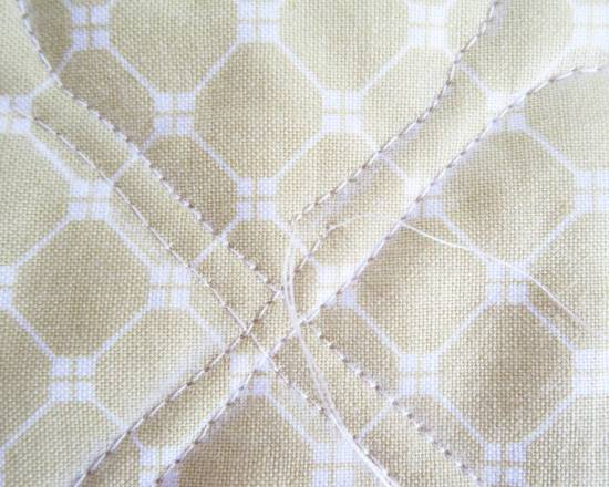 Square in a Square stencil quilting by Allison Reid