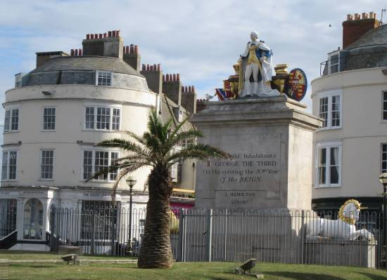 Weymouth 2019 statue of King George III by Allison Reid