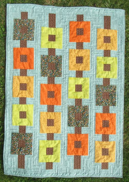 Autumn wallhanging finished by Allison Reid