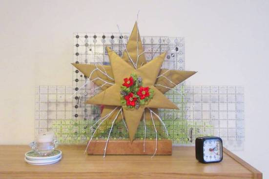 Christmas Star decoration with rulers by Allison Reid