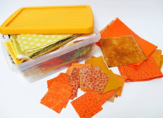 Rainbow Scrap Challenge 2020 orange scraps by Allison Reid