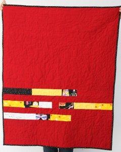 patchwork moderno, fácil y rápido, con back original.