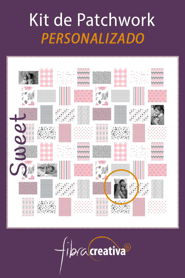 Kit colcha de patchwork para niña personalizado Fibra Creativa