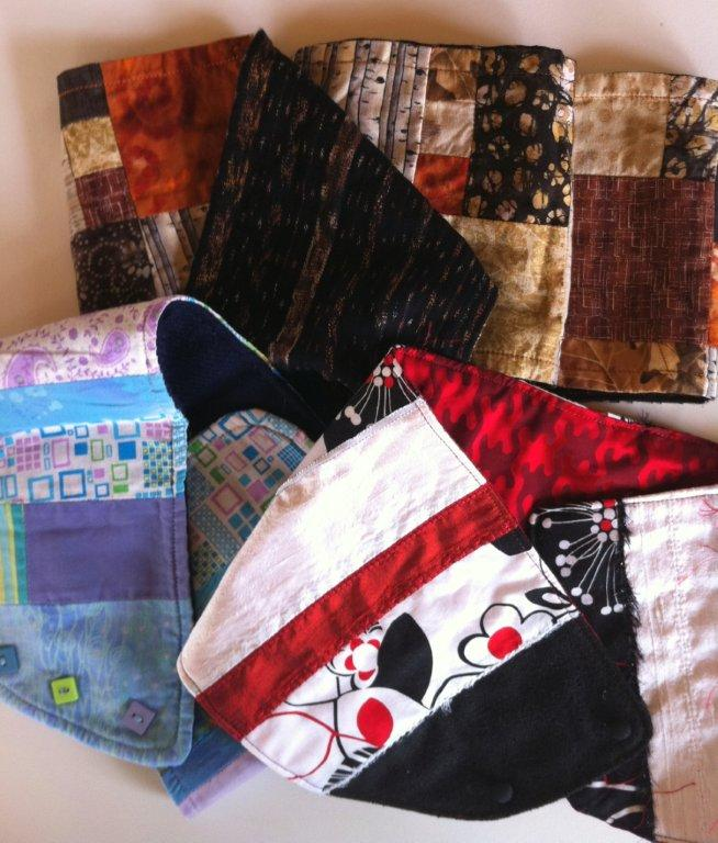 bufanda y cuello de patchwork