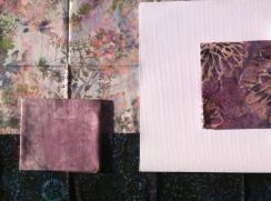 kit patchwork batik y tela para imprimir rosa verde