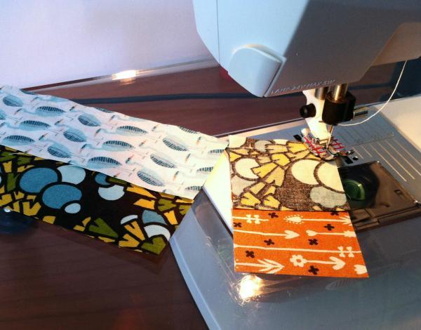 coser en cadena técnica de patchwork a máquina