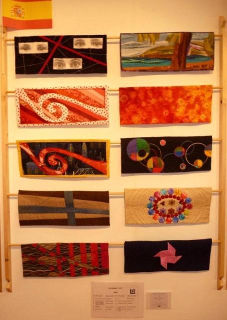 Mini-quilts exposición EQA Crossroads España