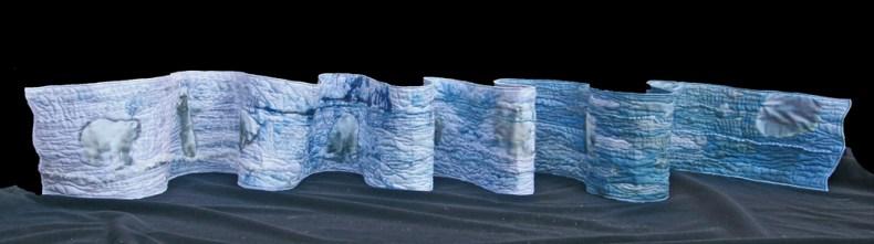 Bientôt plus de glace, art quilt, France Buyle
