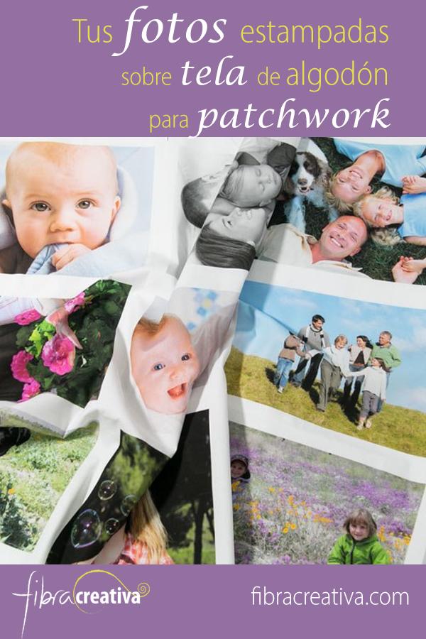 tus fotos estampadas sobre tela de algodón para patchwork
