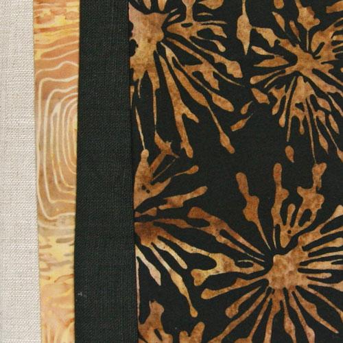 kit con batik, lino y fotos