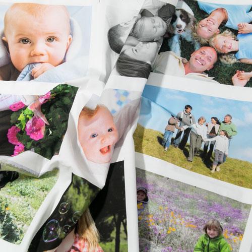 panel de fotos impresas en tela