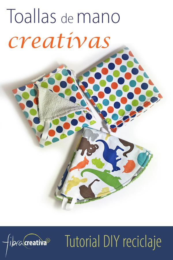 como hacer toallas de mano creativas DIY con toallas recicladas