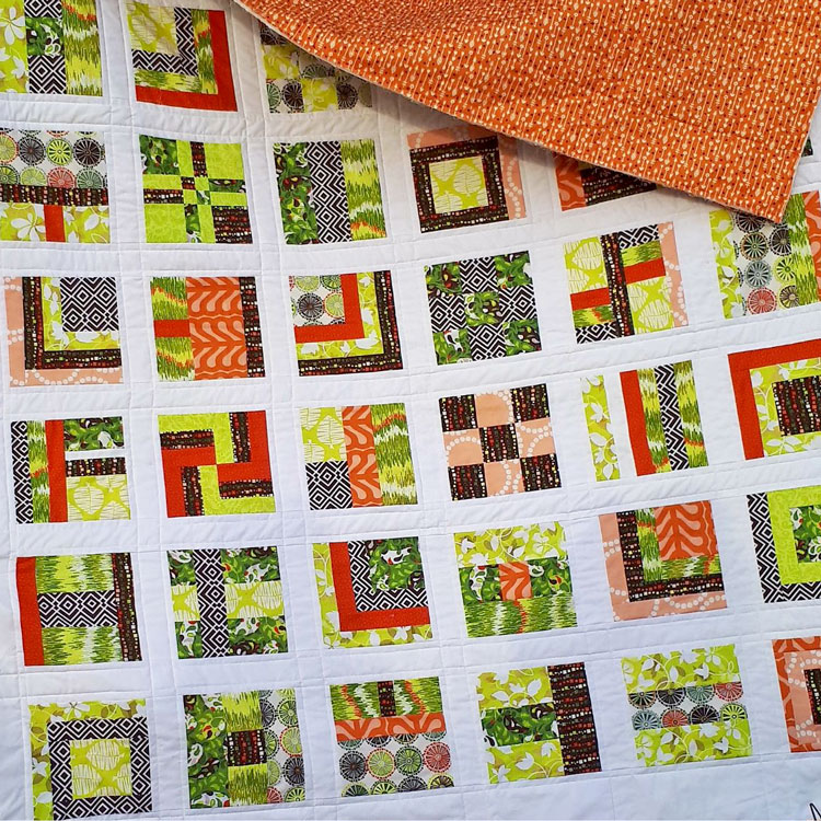 colcha solidaria 2018 patchwork sampler colores citricos