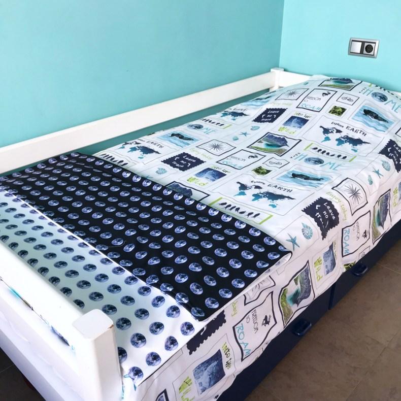 juego de cama funda de edredón algodón ecológico y manta La Tierre es nuestra casa de Fibra Creativa