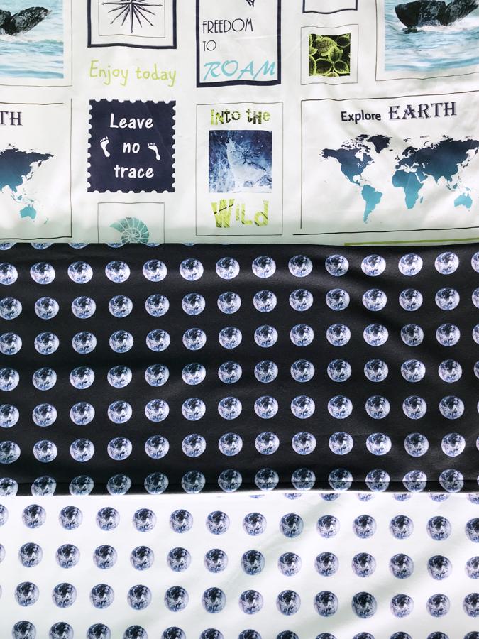 Telas de la colección la Tierra es nuestra casa de Fibra Creativa