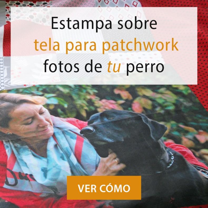 estmpa fotos de tu perro en tela para patchwork