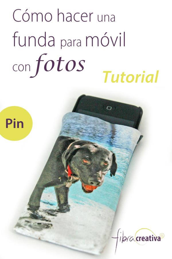 Tutorial cómo hacer una funda para móvil con fotos en tela