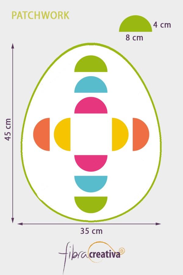 individual de patchwork de pascua camino del borracho
