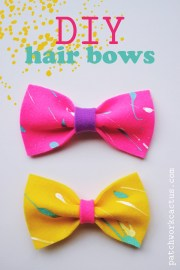 diy felt hair bow tutorial