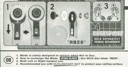 Information on 28mm Olfa Rotary Cutter