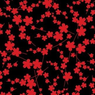 Blossom Silhouette - Black 8551-99