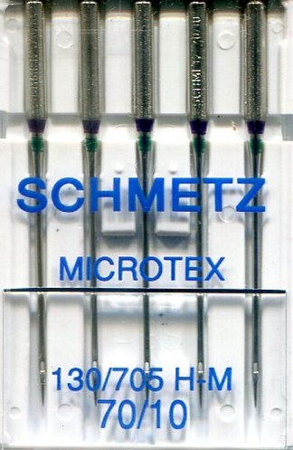 Schmetz Microtex Machine Needles 70 / 10