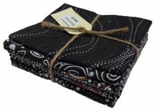 Aboriginal Art Fat Quarter Bundle - Black
