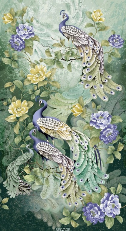 Feather Peacock Panel