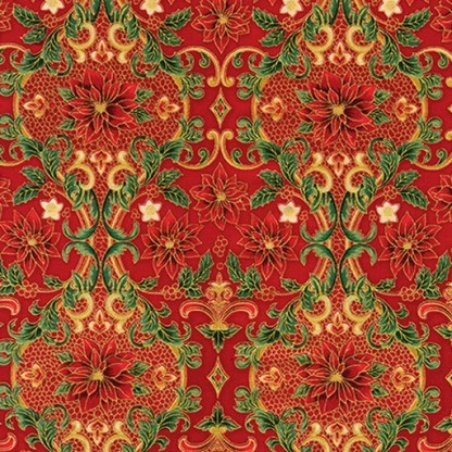 Holiday Flourish 12 APTM-18342-3 Red