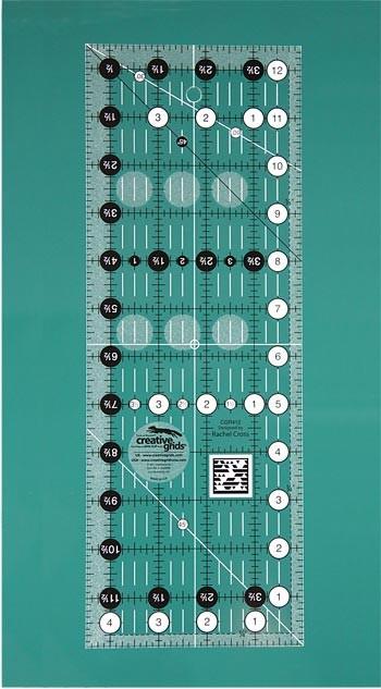 """Creative Grids Ruler 4 ½"""" x 12 ½"""""""