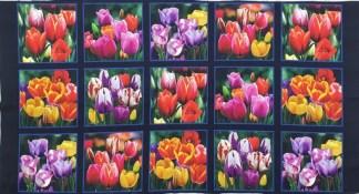 Tulips Panel Pnl_DP534-BLACK