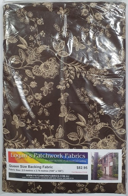 Queen Size Backing Fabric QSBFPk-46189-BROWN