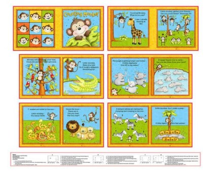 Counting Monkey Book Panel